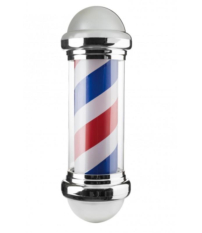 Enseigne barber éclairante et tournante