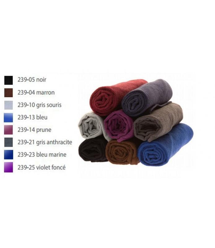 serviettes très grand teint gris souris douzaine 50 x 75cm