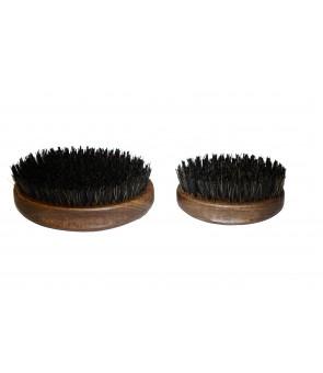 Brosse barbier ovale en poils de sanglier renforcés de nylon