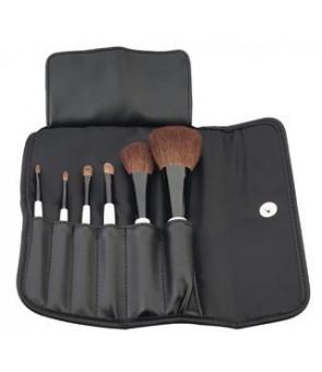 set 6 brosses cosmetic des poils naturels