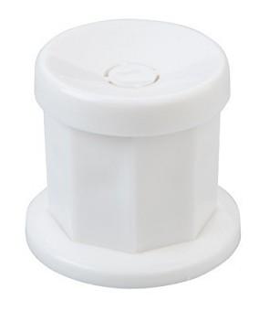 goddet en plastic avec couvercle blanc