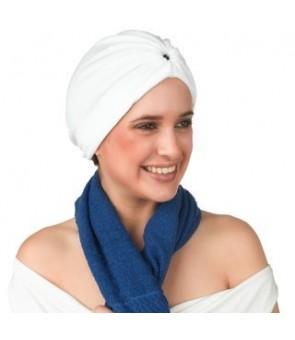 turban en stretch blanc