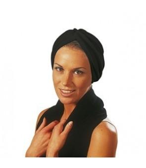 turban en stretch noir