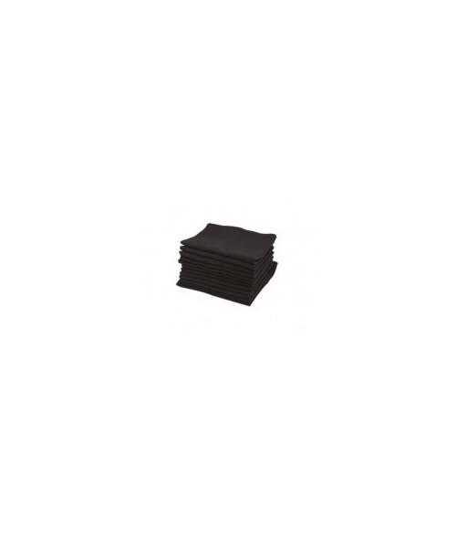 serviettes grand teint noire douzaine 50 x 75cm