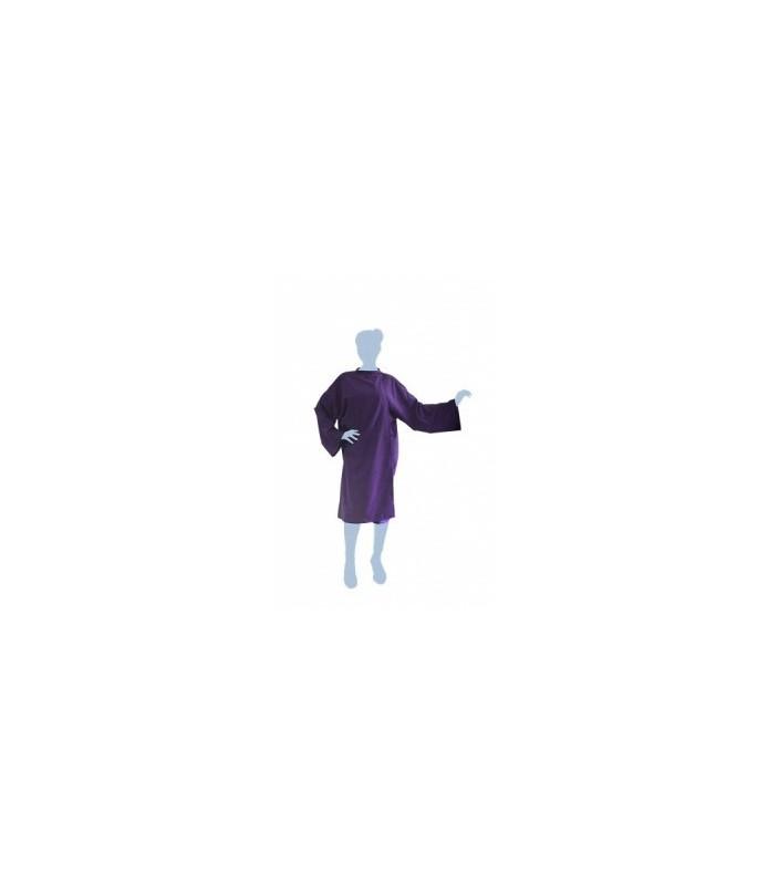 peignoir cape soft violet avec fermeture à crochet