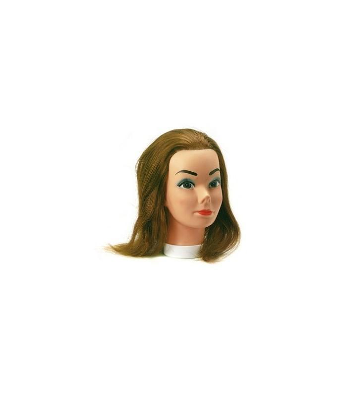 tete malleable candy fine cheveux naturels 35-40 cm