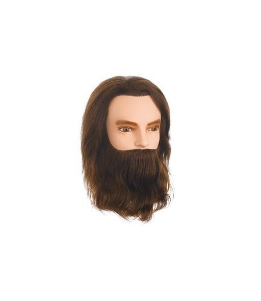 tete malleable karl barbe et moustache 30-35 cm