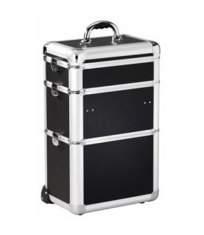 valise aluminium grand modèle noire 37x24x61cm