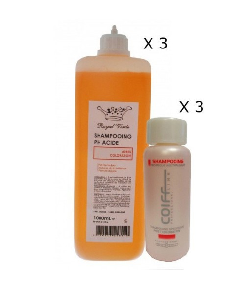 Pack shampooings après coloration
