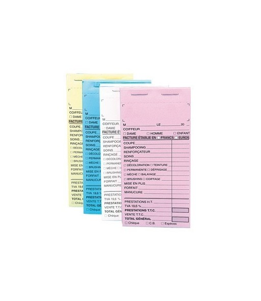 carnet de caisse sans numero coloris bleu 10pcs