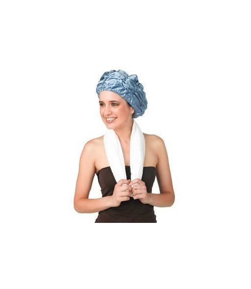 bonnet douche polyester grand model bleu ciel
